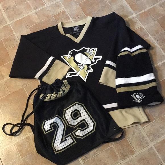7cb20181d Pittsburgh Penguins game shirt, draw string, & hat.  M_5b5777a3d365be8fe6d83e8c